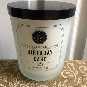 DW HOME 15 oz Candle BIRTHDAY CAKE 56 Hours Burn